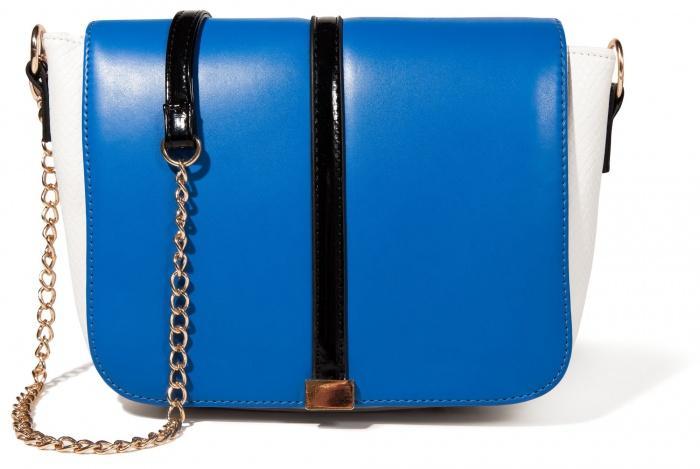 kobaltowa torebka Mohito na łańcuszku - modne dodatki