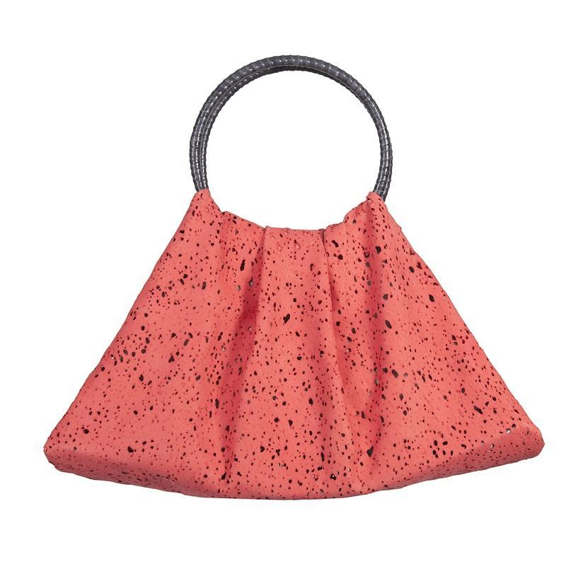 worek - torebka Caterina w kolorze koralowym - modne torebki