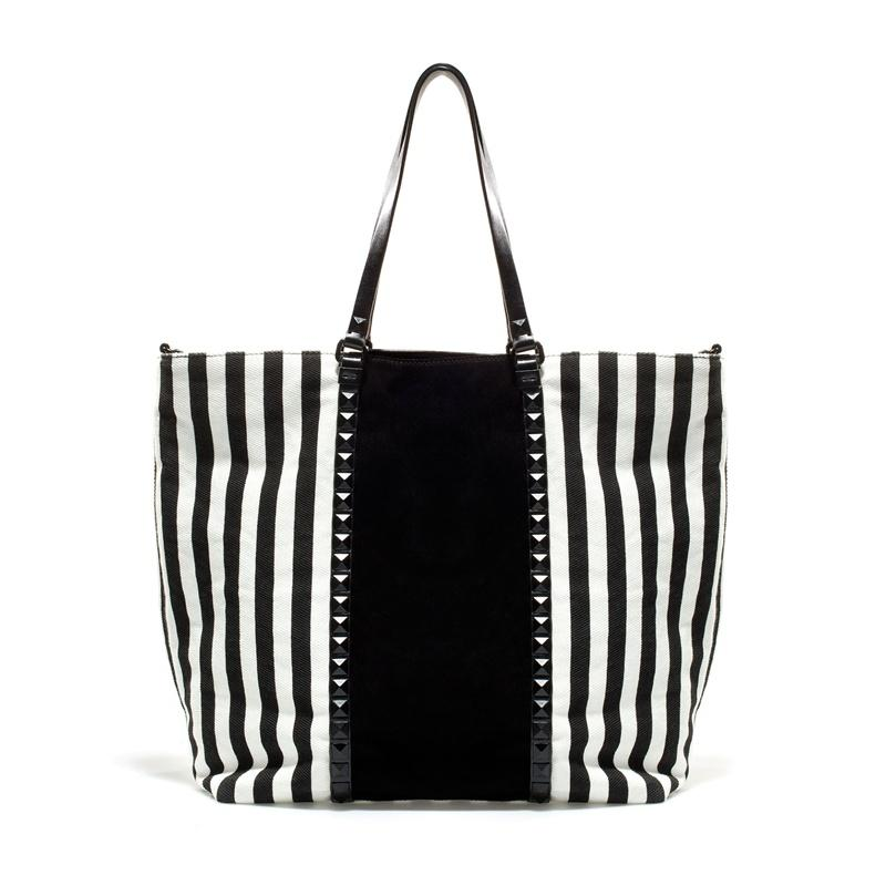 biało-czarna torebka ZARA - modne torebki