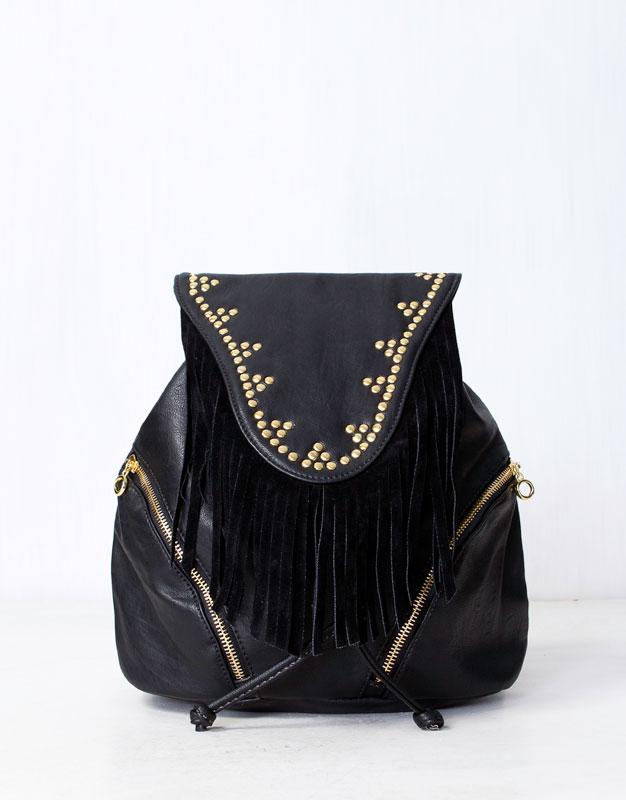 plecak Pull and Bear w kolorze czarnym - modne dodatki