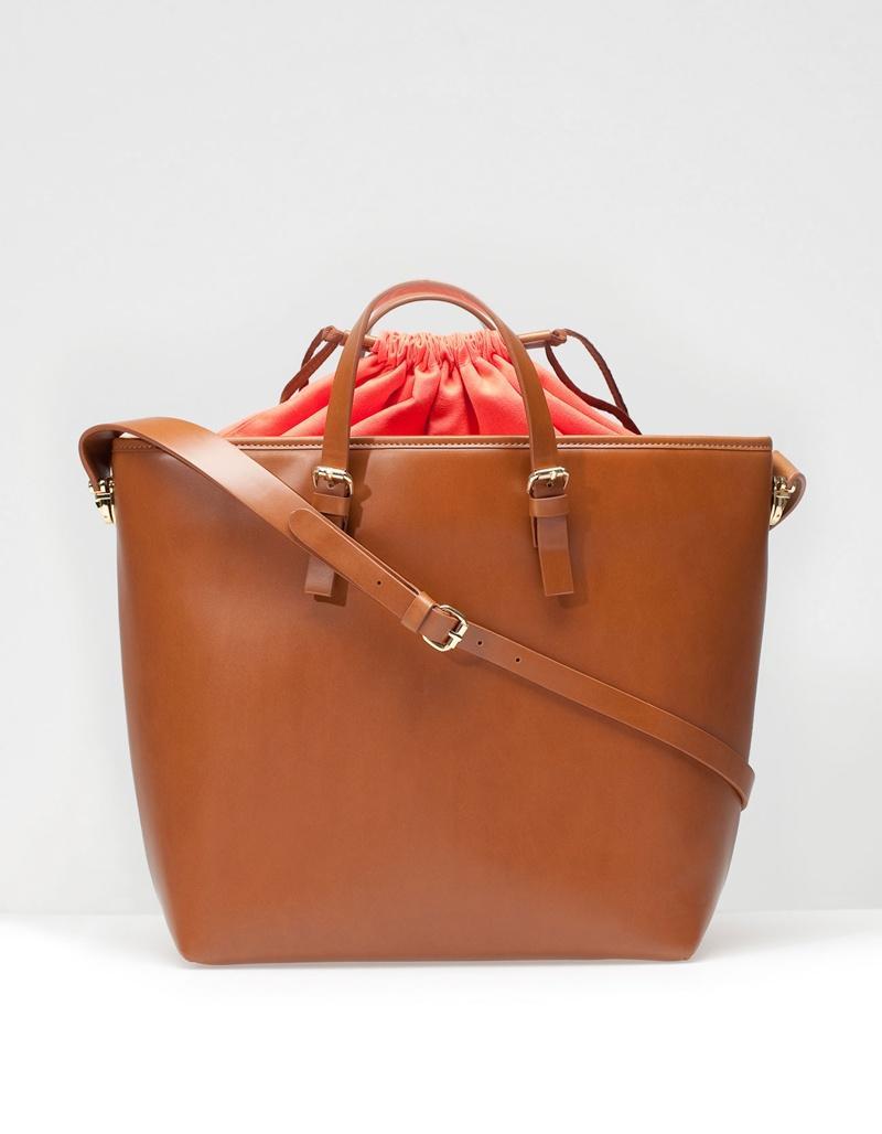elegancka torebka Stradivarius w kolorze brązowym - modne dodatki