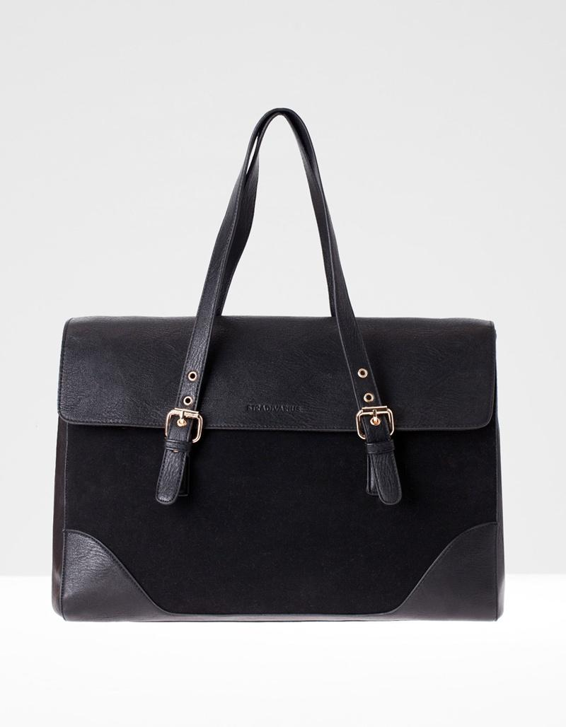czarna torebka Stradivarius - torebki na wiosnę