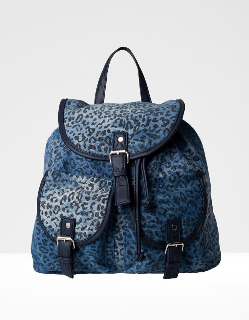plecak Stradivarius w panterkę w kolorze niebieskim - torebki na lato
