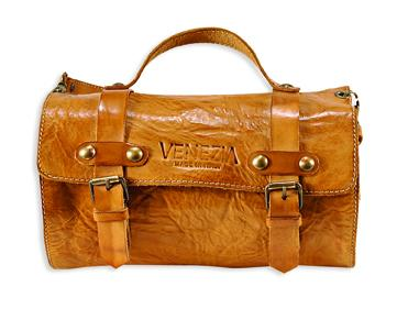 brązowa torebka Venezia ze skóry - letnia kolekcja