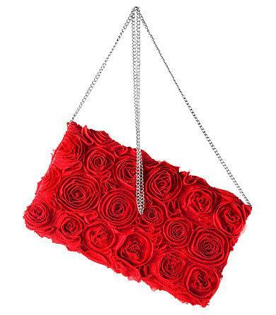 czerwona kopertówka H&M