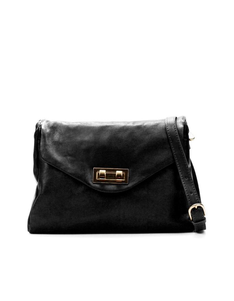 czarna torebka ZARA - z kolekcji wiosna-lato 2011