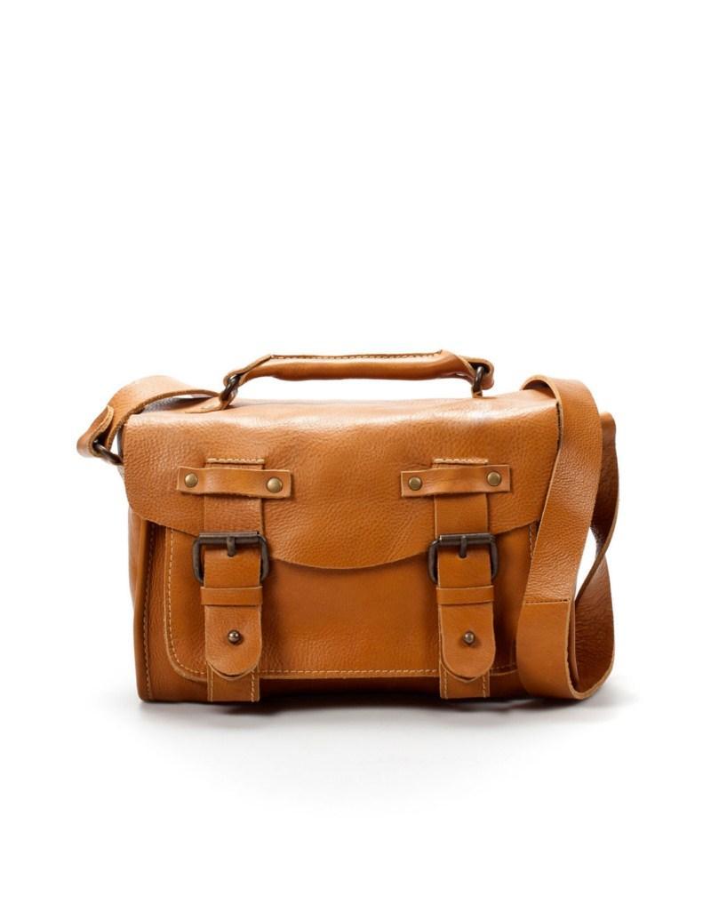 brązowa torebka ZARA - trendy wiosna-lato