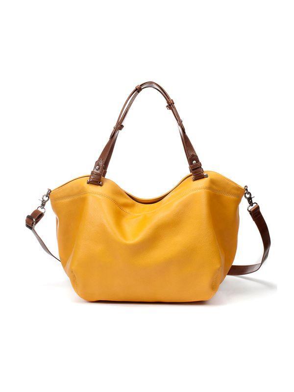 żółta torebka ZARA duża - z kolekcji wiosna-lato 2012
