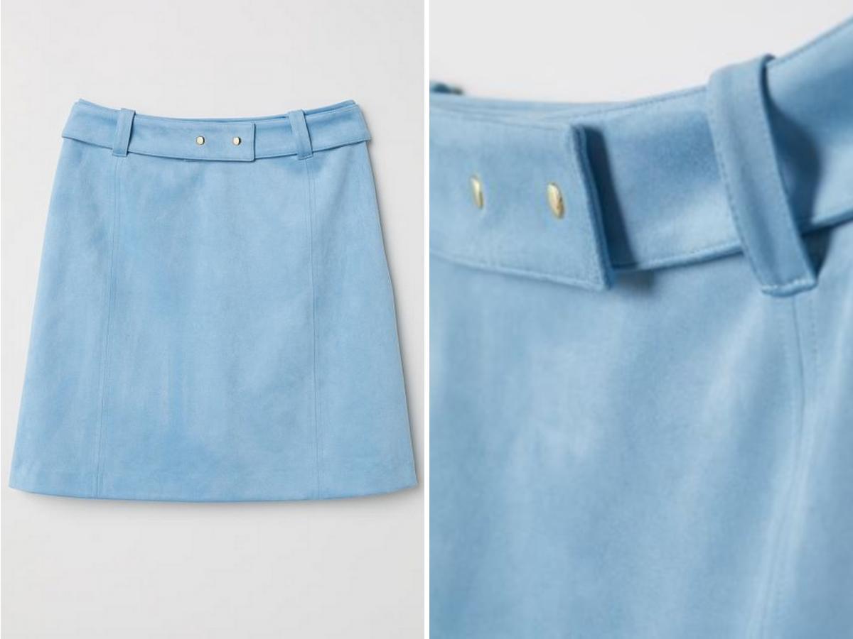 trapezowa spódnica z H&M na wyprzedaży