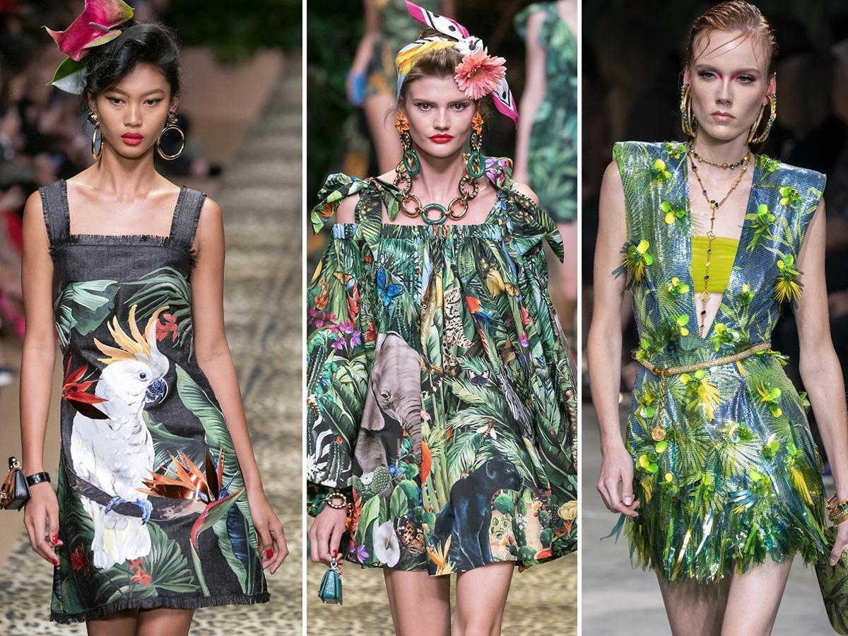 trendy wiosna lato 2020: tropiki