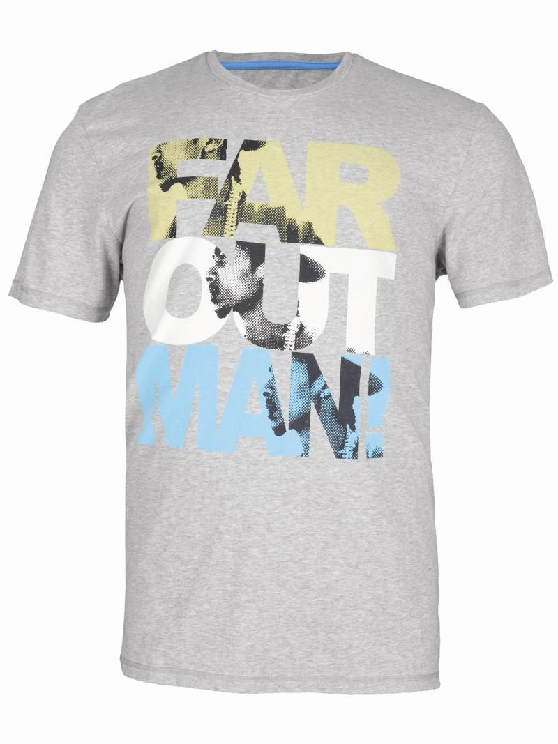 szary t-shirt Troll z nadrukiem - wiosna/lato 2011