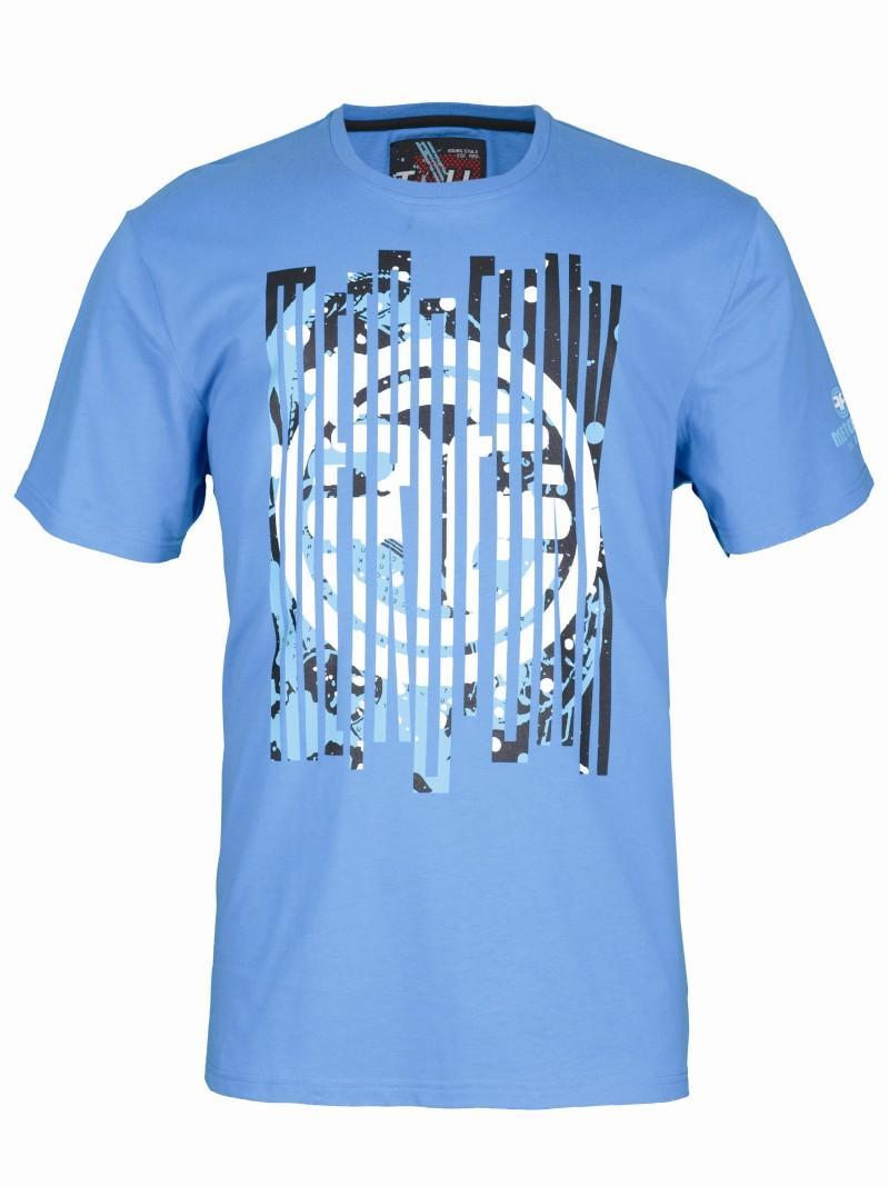 niebieski t-shirt Troll z nadrukiem - lato 2011