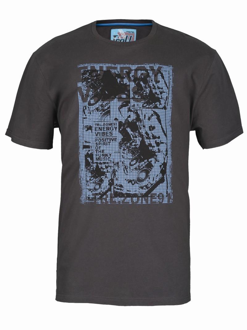 czarny t-shirt Troll z nadrukiem - trendy wiosna-lato