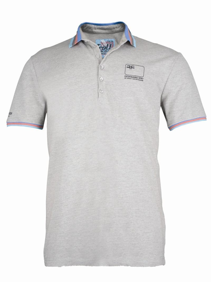 szara koszulka Troll polo - z kolekcji wiosna-lato 2011
