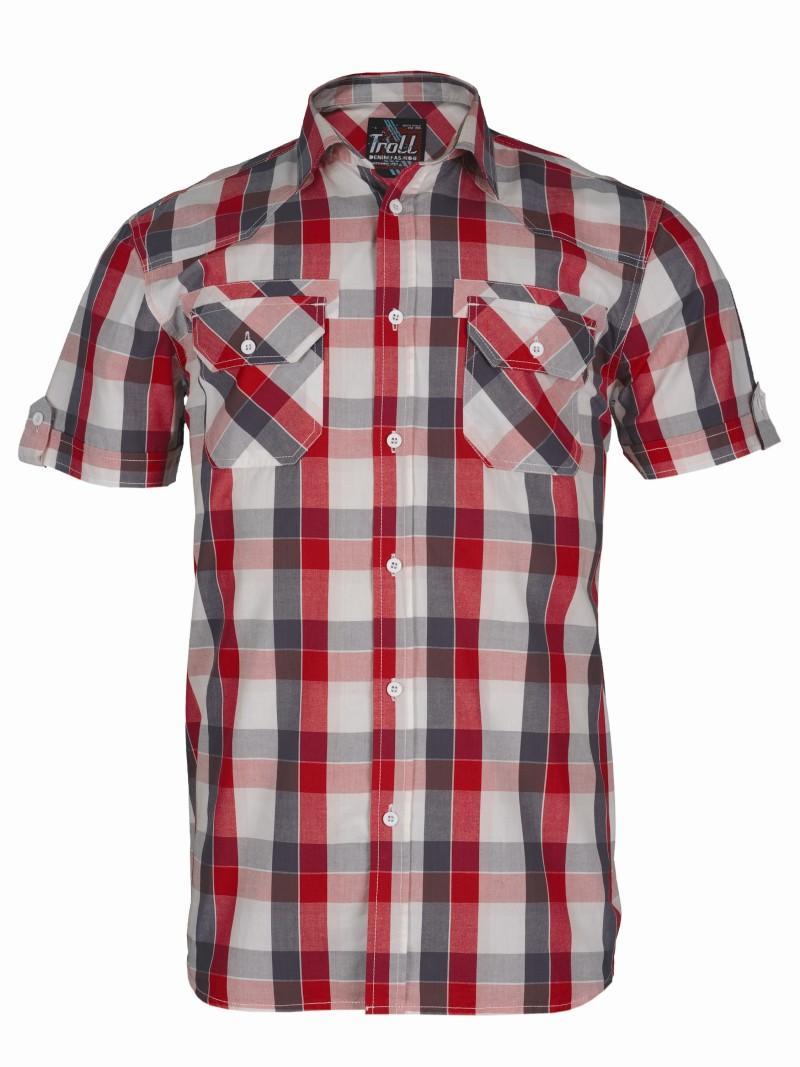 czerwona koszula Troll w kratkę - wiosna/lato 2011