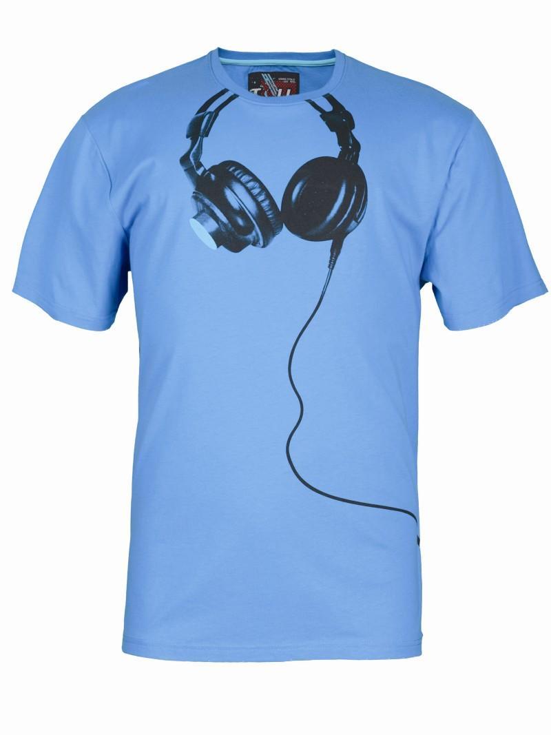 niebieski t-shirt Troll z nadrukiem - z kolekcji wiosna-lato 2011