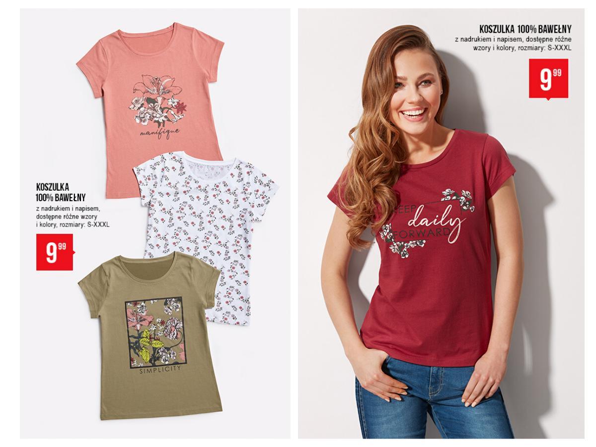 T-shirty we wzory w kwiaty z PEPCO za 9,99 zł