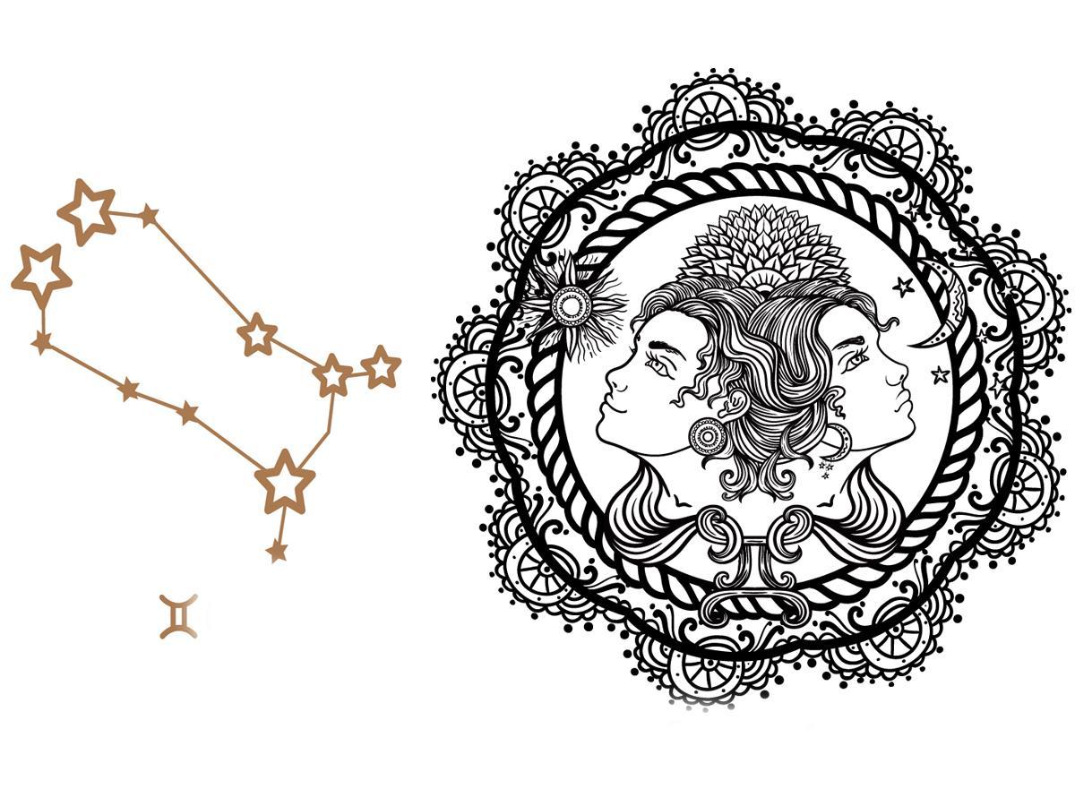 Znak Zodiaku Bliźnięta Tatuaż Znak Zodiaku Te Wzory
