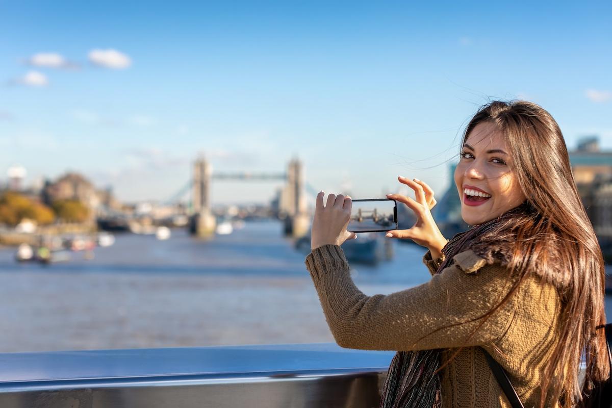 turystka w UK