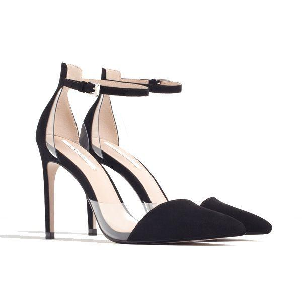 Czarne buty na obcasie Zara cena