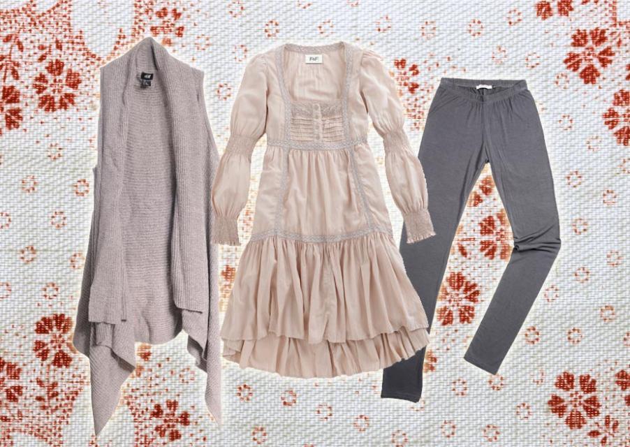 ubranie, styl romantyczny
