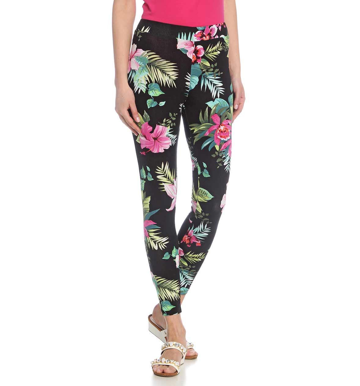 Ukwiecona łąka na spodniach - spodnie w kwiaty i łączkę