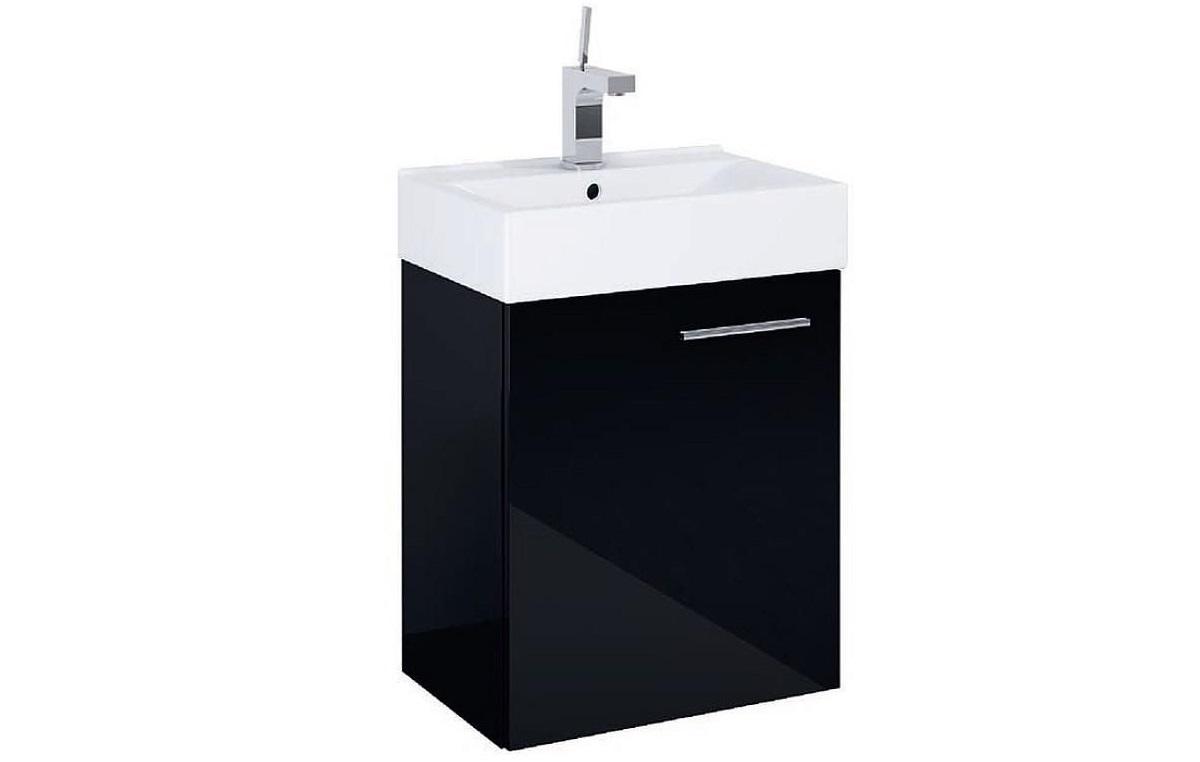 umywalka z szafką czarna
