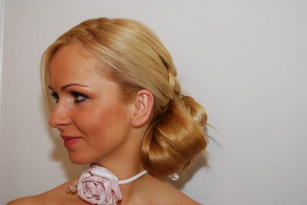 Upięcia ślubne wykonane przez Adama Rudyka - stylistę Farouk Systems Polska