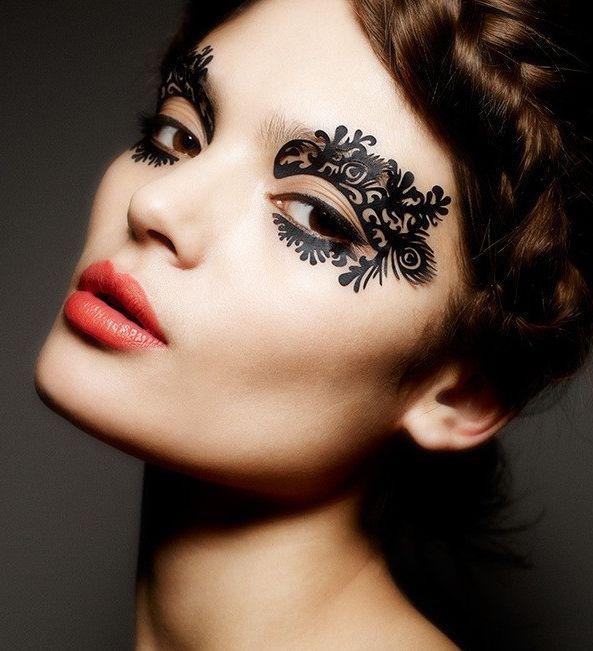 Urodowy trend tatua e na powieki z winylu twarz i for Halloween makeup tattoos