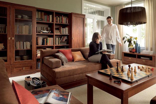 Nowoczesne meble w stylu klasycznym do salonu od  Black Red White - aranżacje wnętrza