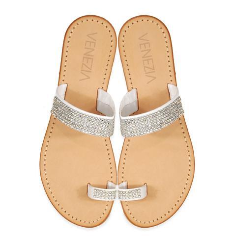 srebrne klapki Venezia - moda 2011