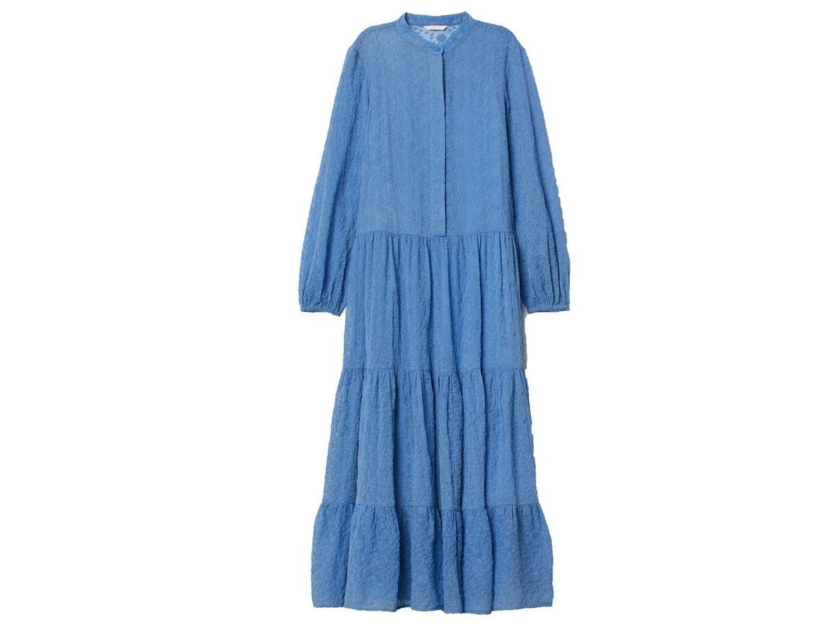 Niebieska sukienka w stylu boho, H&M, cena ok. 199,99 zł