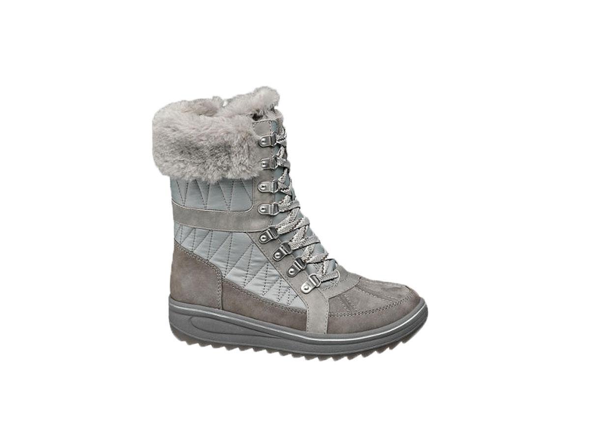 Srebrne śniegowce, Deichmann, cena ok. 159,90 zł
