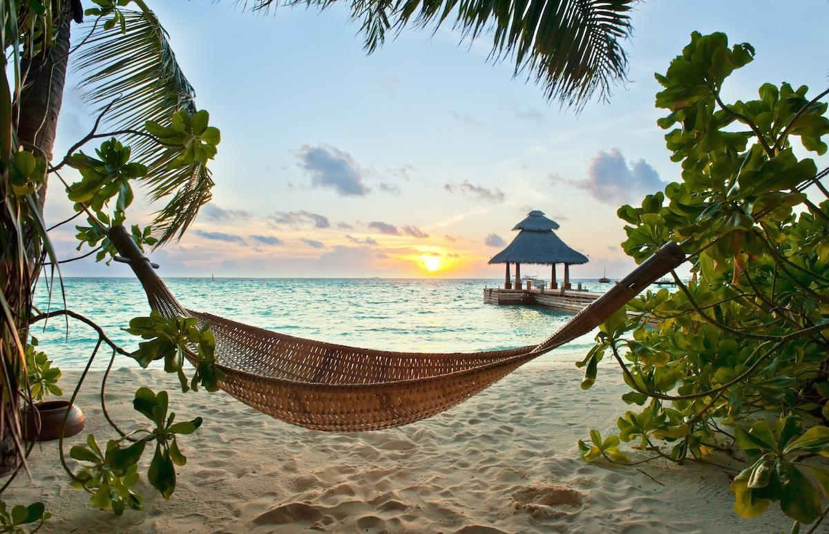 Malediwy, plaża