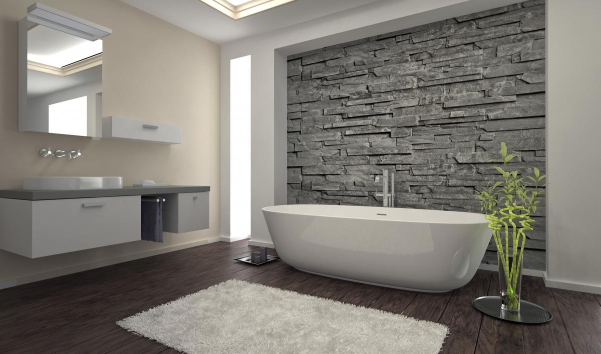 Wanna wolnostojąca w nowoczesnej łazience