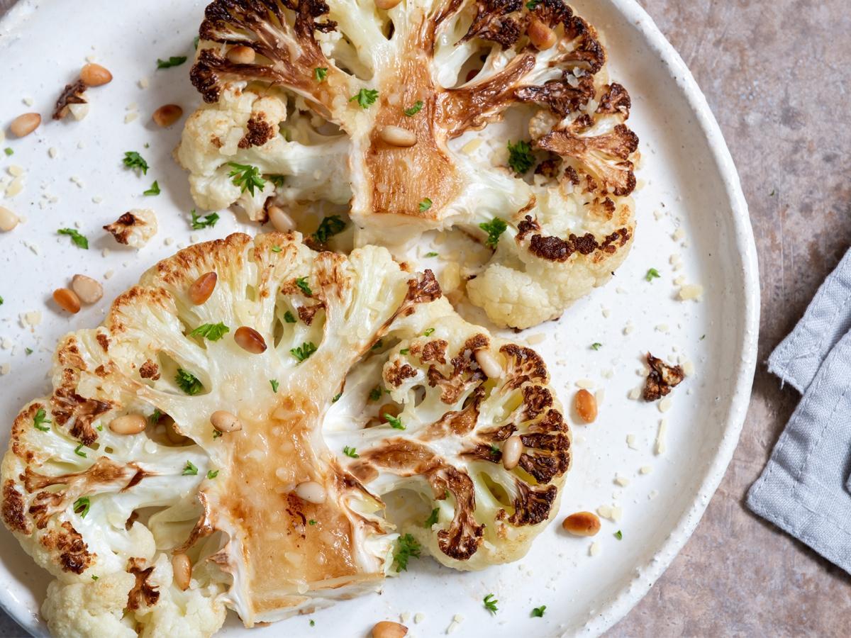 przepis na stek z kalafiora