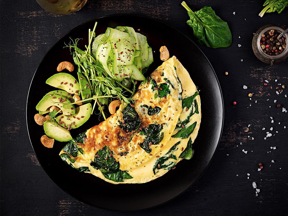 omlet wegański przepis