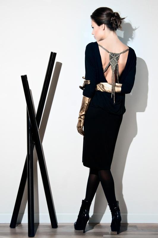 dekolt, moda, kobieta, elegancja