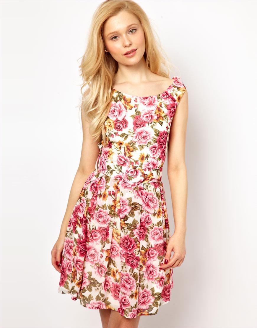 sukienka Asos w kwiaty - wiosna/lato 2013