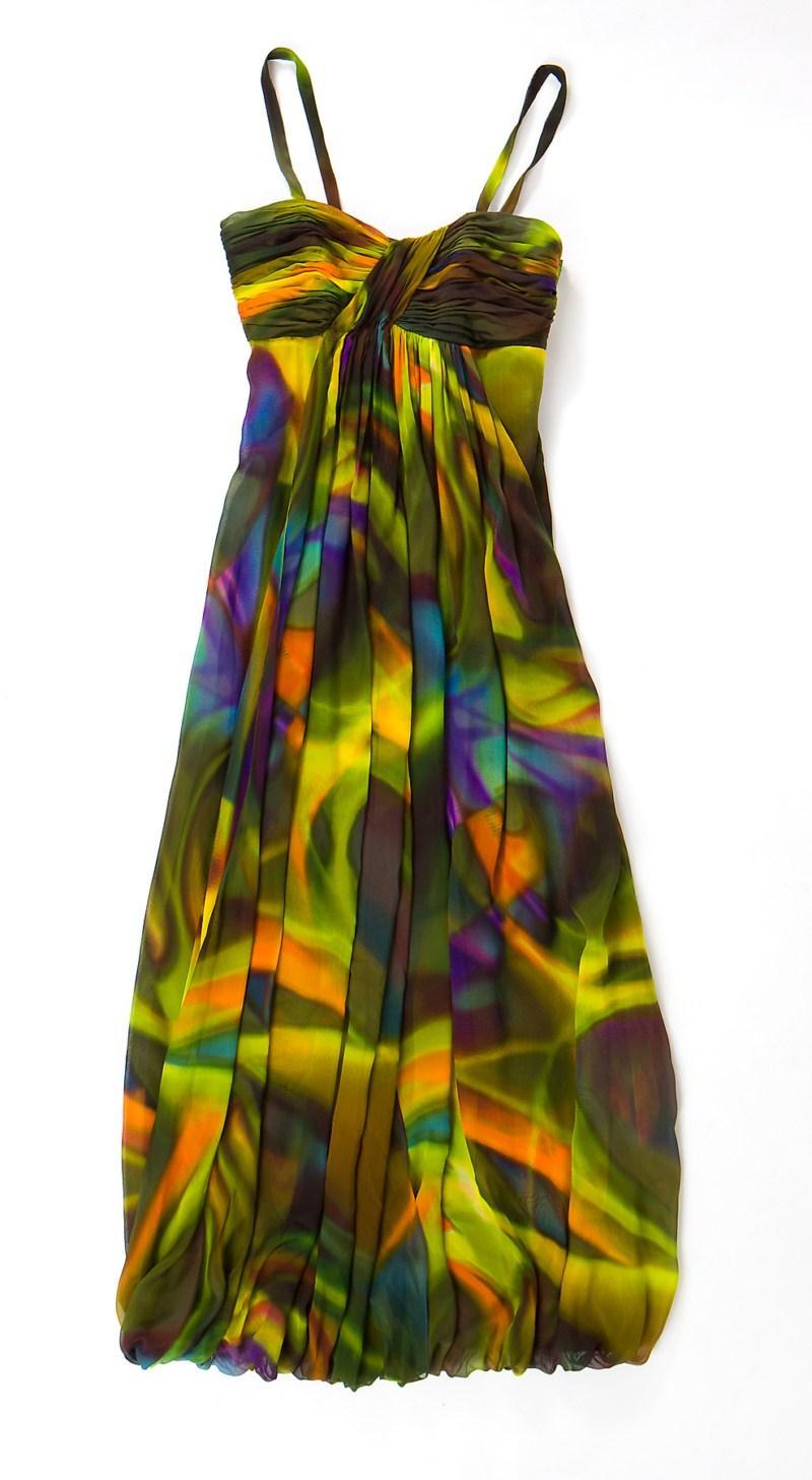 kolorowa sukienka Aryton długa - wiosna/lato 2011