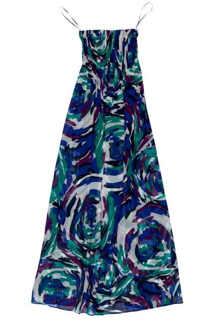 kolorowa sukienka BGN we wzory długa - wiosna/lato 2011