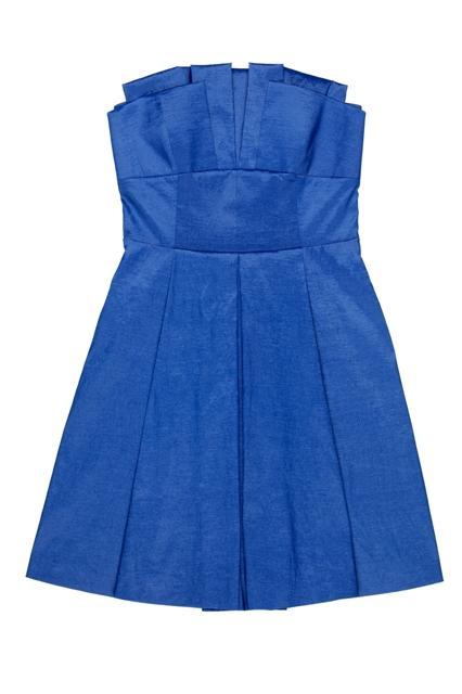 niebieska sukienka BGN - moda 2011