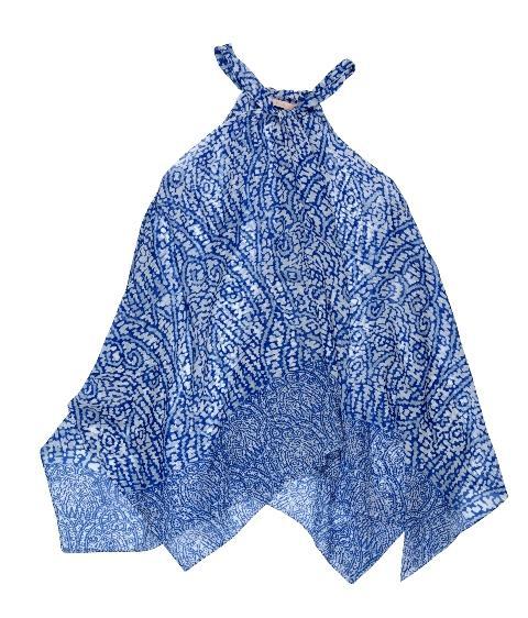 niebieska bluzka BGN we wzory - wiosna/lato 2011