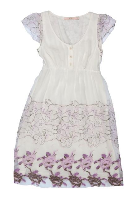 biała sukienka BGN we wzory - wiosna/lato 2011