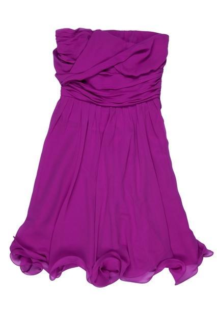 fioletowa sukienka BGN odkryte ramiona - wiosna/lato 2011