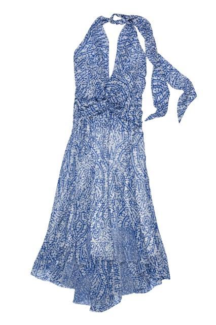 niebieska sukienka BGN we wzory - wiosna/lato 2011