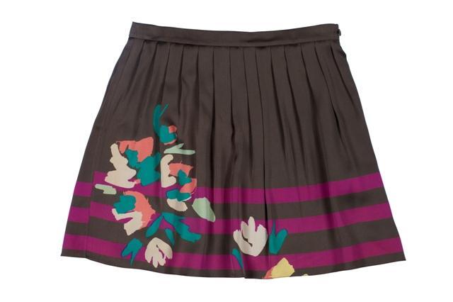 brązowa spódnica BGN we wzory - wiosna/lato 2011