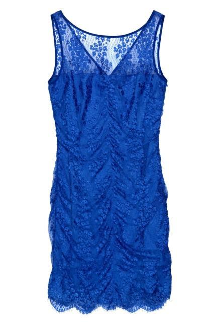 niebieska sukienka BGN koronkowa - z kolekcji wiosna-lato 2011