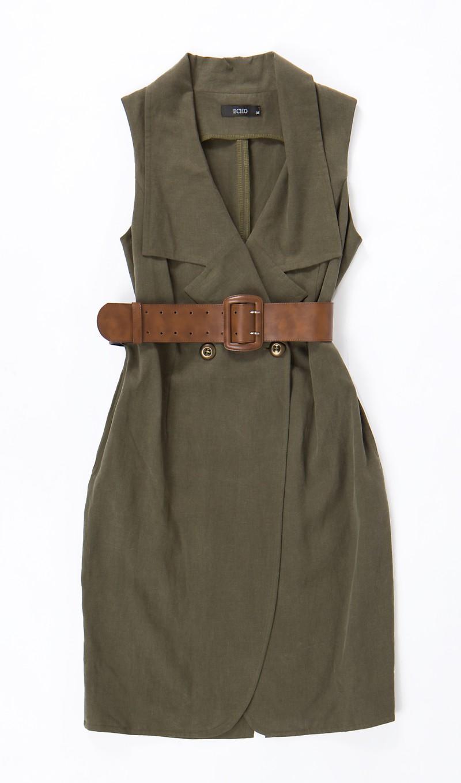 brązowa sukienka Echo - moda wiosna/lato