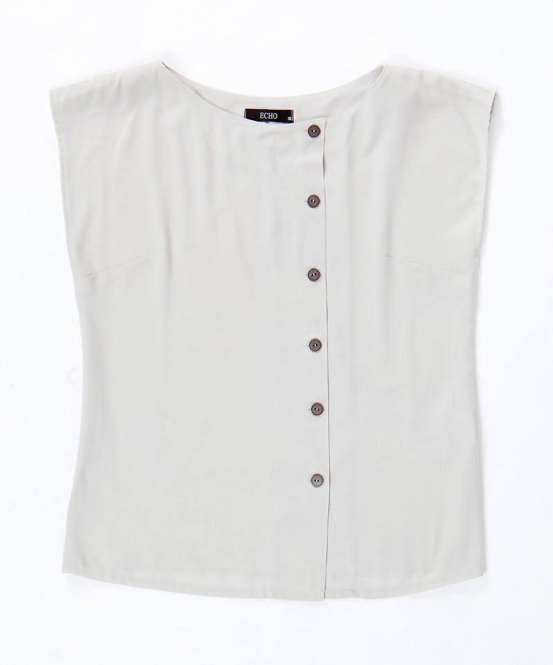 biała bluzka Echo z guzikami - kolekcja wiosenno/letnia